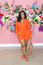 "The ""Take it Easy"" Orange Romper"