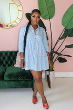 "The ""Baby Denim"" Light Wash Dress"