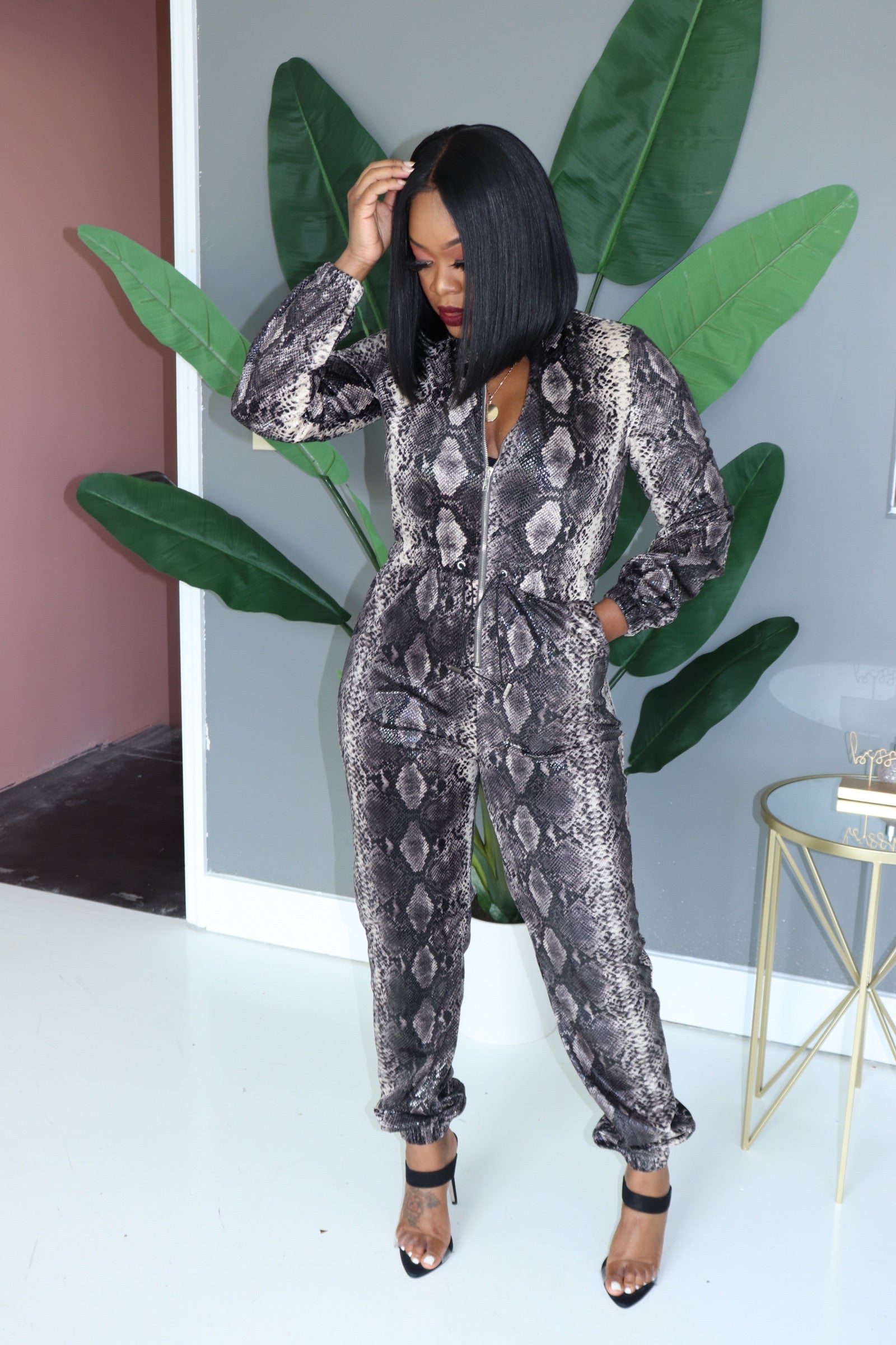 "The ""Snake Me Out"" Jumpsuit"