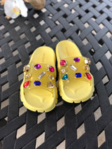 "The ""Yellow"" Multi Stone Sandals"