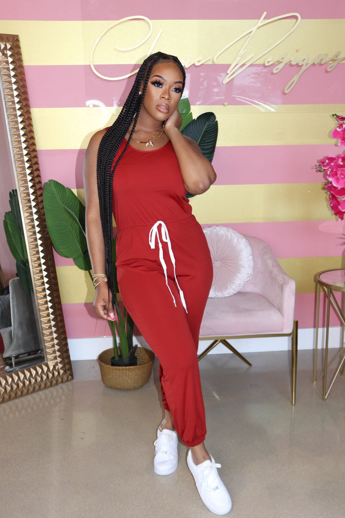 "The ""Gigi Girl"" Rust Jumpsuit"