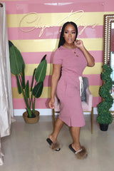 "The ""Keep it Simple"" Mauve Dress"