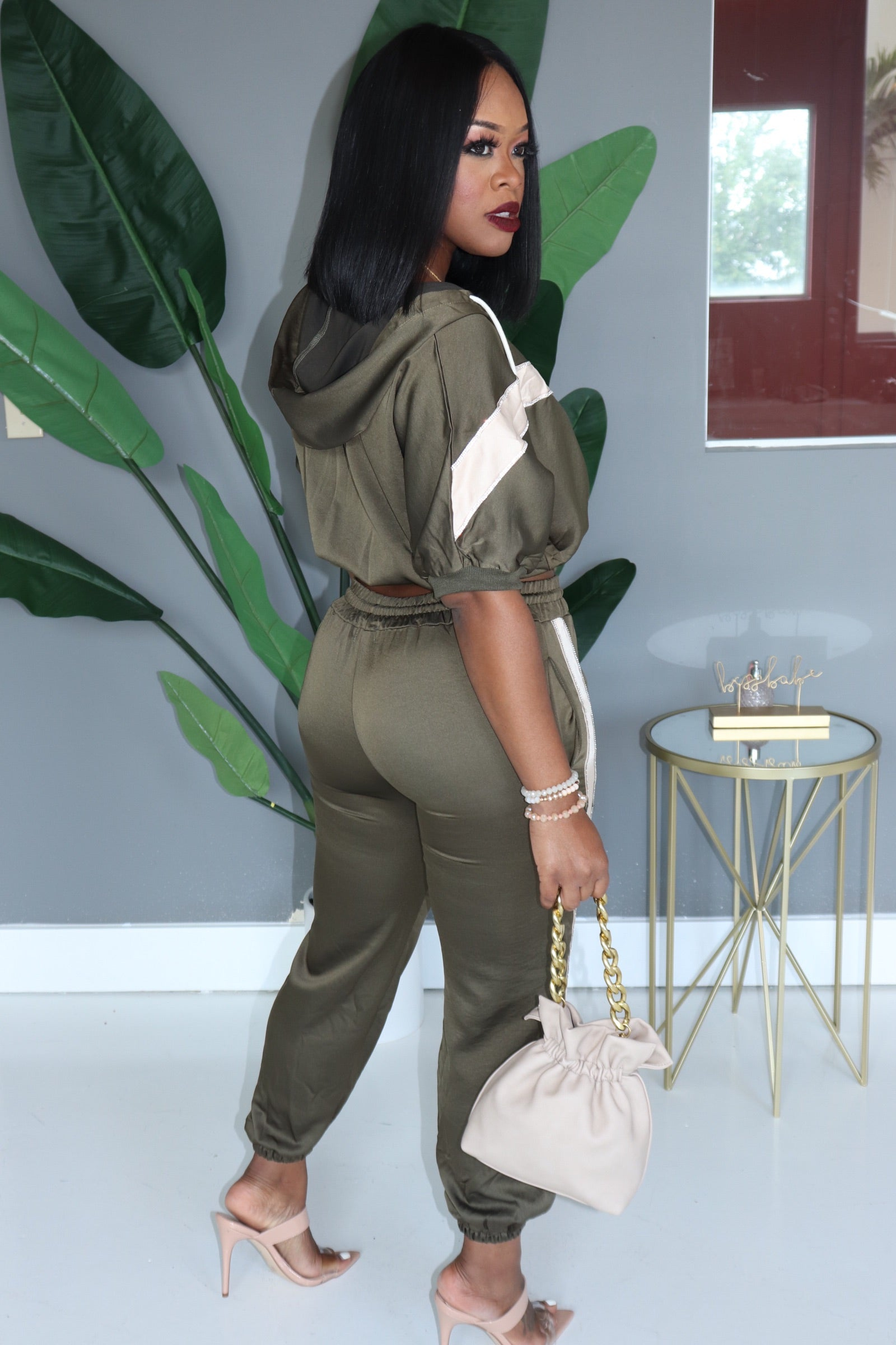 "The ""Rhinestone"" Olive Set"
