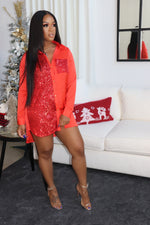 "The ""Night Life"" Sequin Red Dress"