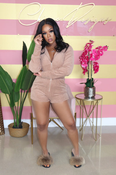 "The ""Terri"" Brown Romper"