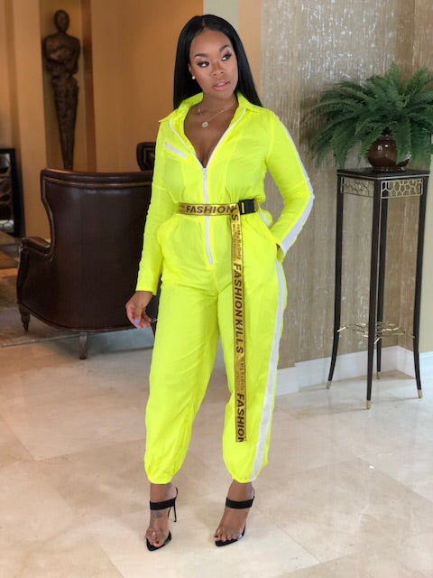 "The""Neon Yellow Fashion Jumper"""
