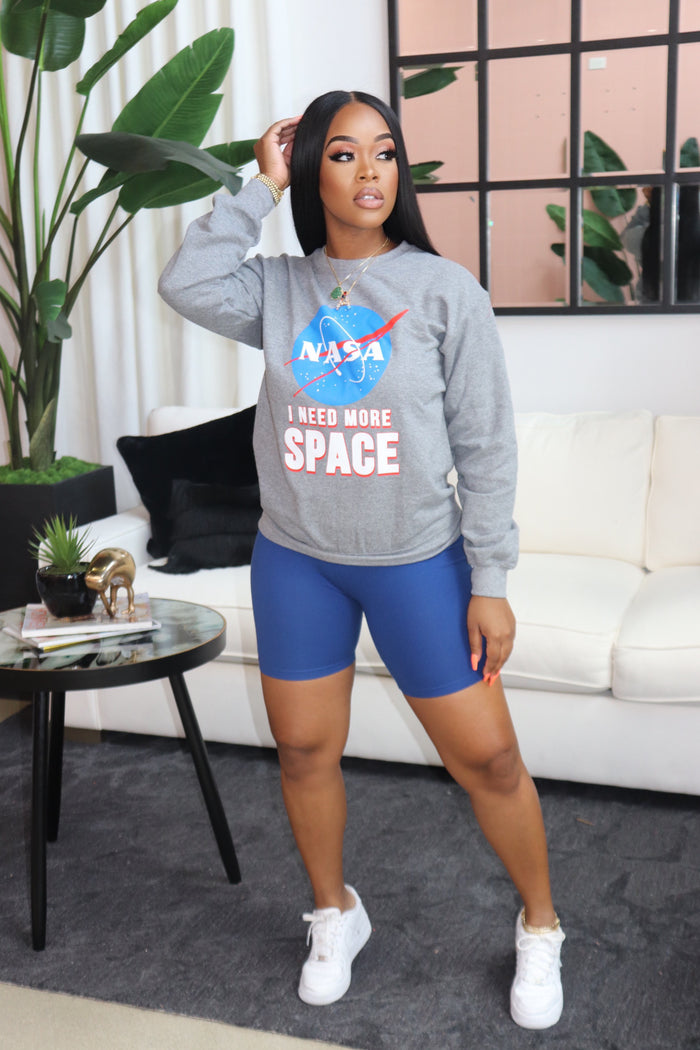 "The ""NASA"" Grey Sweater"