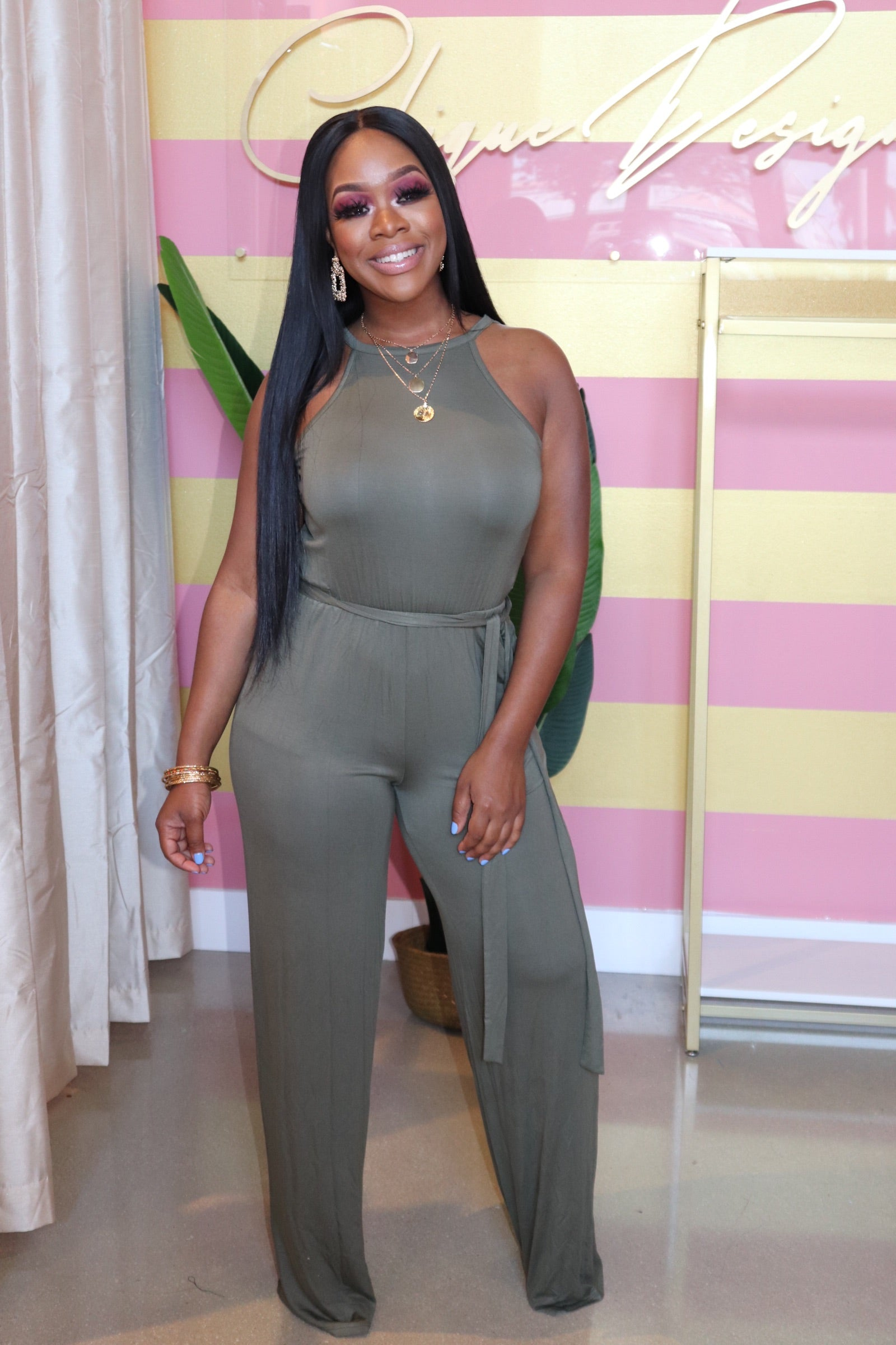 "The ""Sarah"" Olive Jumpsuit"