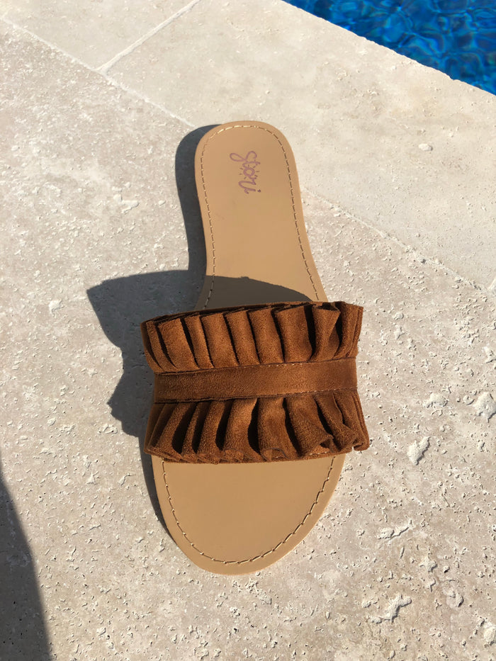 "The ""Posh"" Tan Sandal (Final Sale)"
