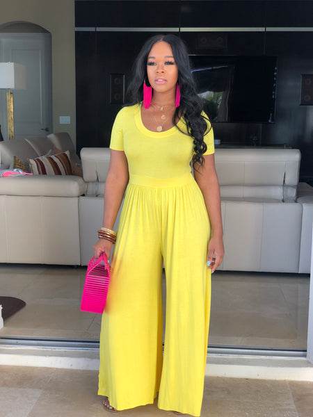 "The ""Yellow"" Got to Have it Jumpsuit"
