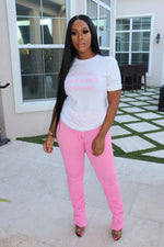 "The ""Pink"" Stacked Pants"