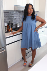 "The ""Pretty Girl"" Blue Babydoll Dress"