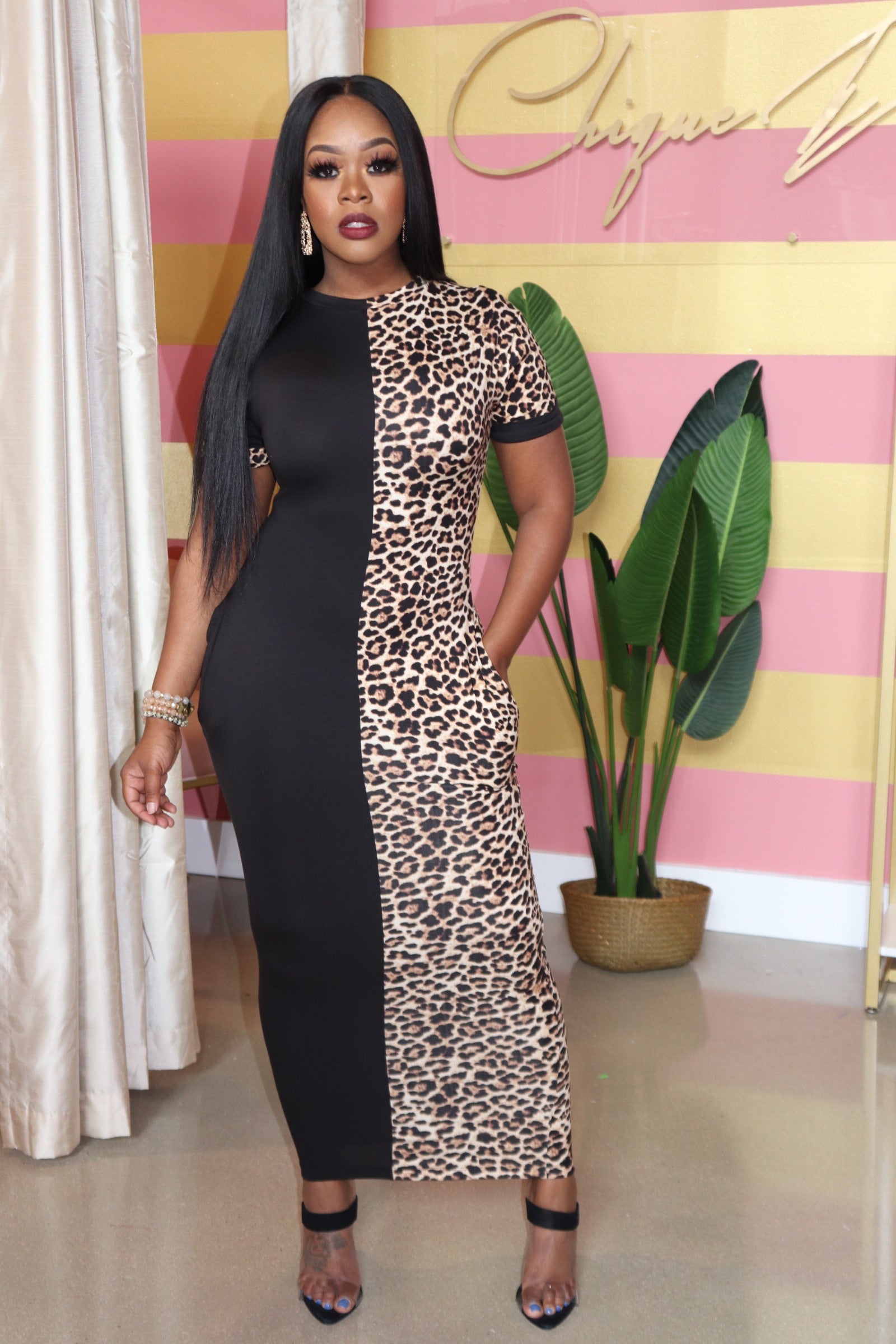 "The ""Cheetah Midi"" Dress"