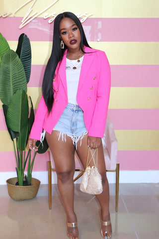 "The ""Pink Barbie"" Blazer"