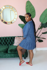 "The ""Baby Denim"" Dark Wash Dress"
