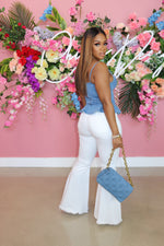 "The ""White Bell Bottom Jeans"