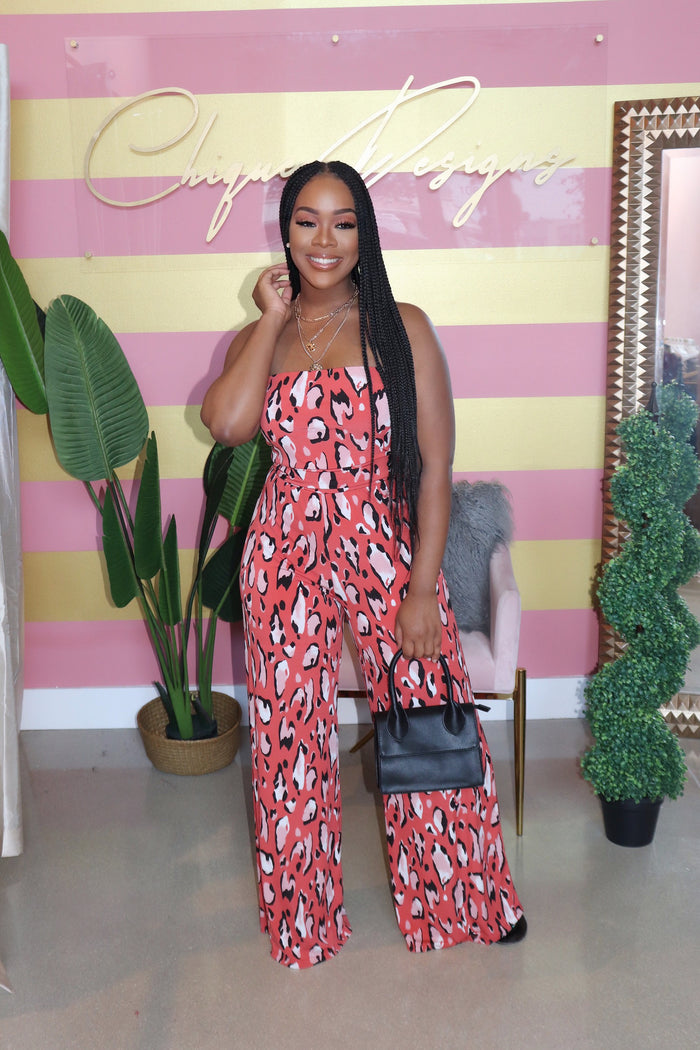 "The ""Take Me Out"" Print Jumpsuit"
