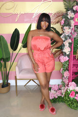 "The ""Bimini"" Coral Romper"