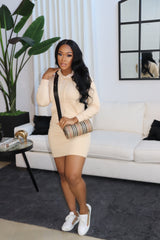 "The "" Chilly Nights"" Nude Sweater Dress"