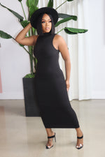 "The ""Bad Attitude"" Black midi Dress"