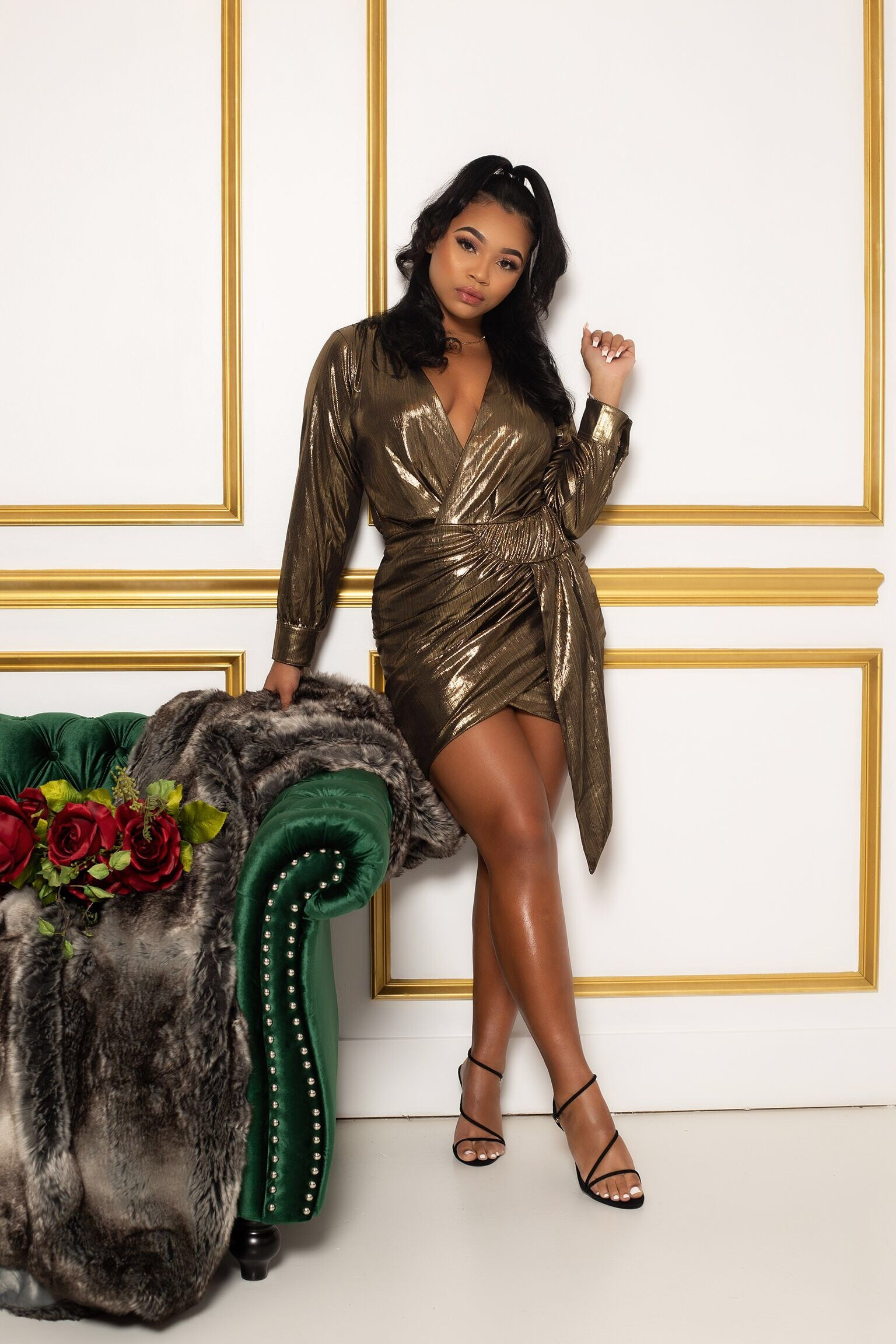"The ""Gold Metallic Lady"" Dress"
