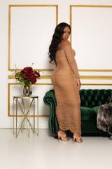 "The ""Oh Baby"" Nude Sheer Dress"