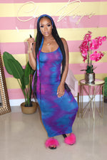 "The ""Bodied"" Tye-Dye Purple Dress"
