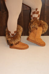 "The ""Cozy"" Fur Boots (Final Sale)"