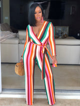 "The ""Tami"" Colorful Stripe Jumpsuit"