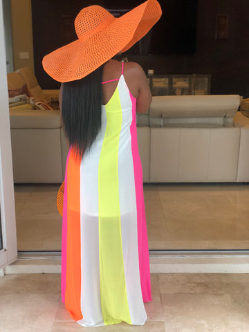 "The ""Hey Girl"" Neon ColorBlock Dress"