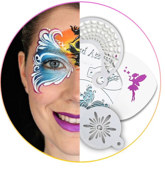 Face Painting with Stencils - Instructions and Best Stencils Guide