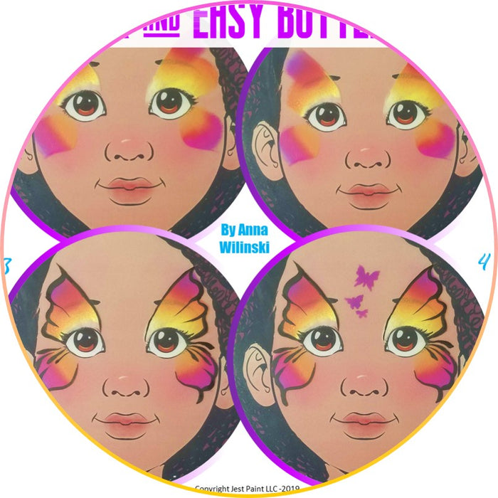 Quick and Easy Step by Step Face Painting | Butterfly