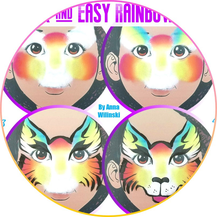 Quick and Easy Step by Step Face Painting | Rainbow Cat