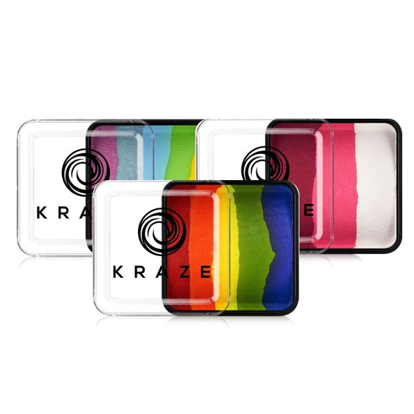 Kraze FX Face Paints - Domed Rainbow Cakes