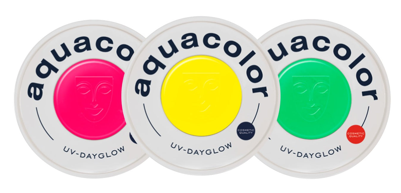 Kryolan Aquacolor UV Neon Cosmetic Grade Face Paints