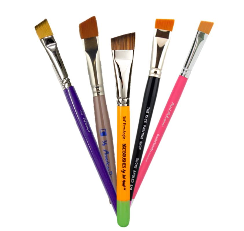 Angle Face Painting Brushes