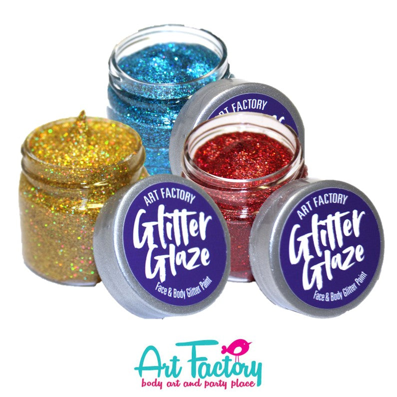 Glitter Glaze Face and Body Glitter Paint by the Art Factory