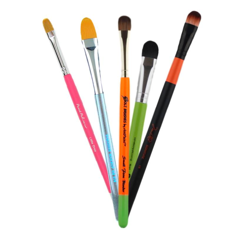 Filbert and Blending Face Painting Brushes