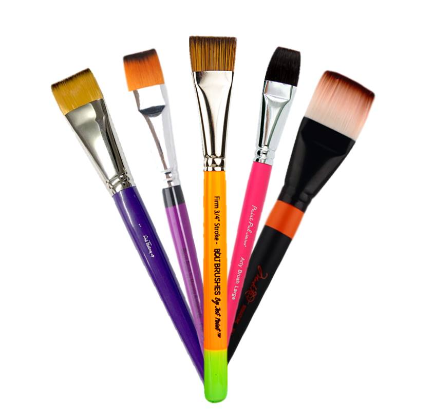 Flat Face Painting Brushes
