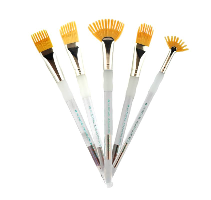 Rake and Wisp Face Painting Brushes