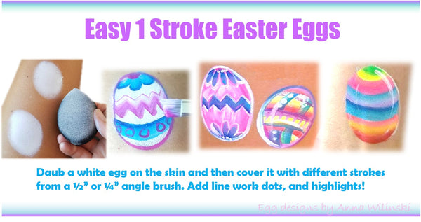 Anna Wilinski face painting easter eggs jest paint