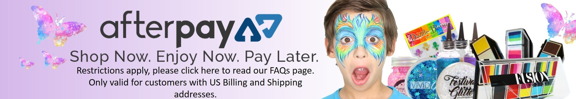 Afterpay on Jest Paint