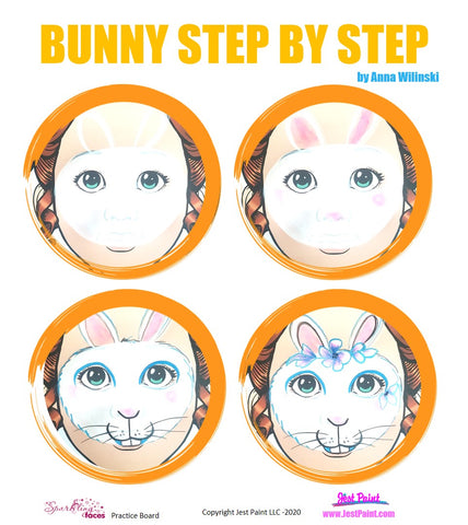 Bunny Face Painting Step by Step Tutorial