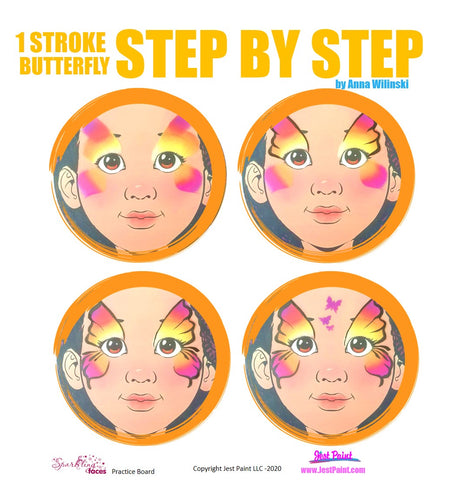 Butterfly Face Painting Step by Step Tutorial