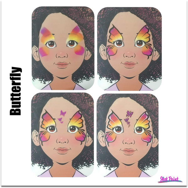 face paint step by step tutorial face paint classes butterfly