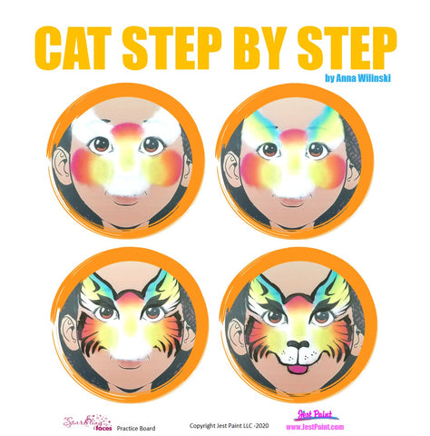 Cat Face Painting Step by Step Tutorial