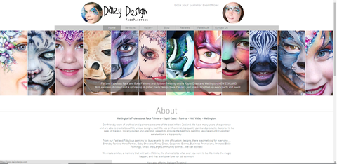 Christy Lewis Face Painting Website