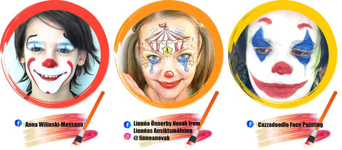 Clown Face Paint Ideas