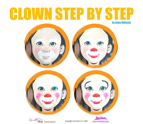 Clown Face Paint Step by Step Tutorial