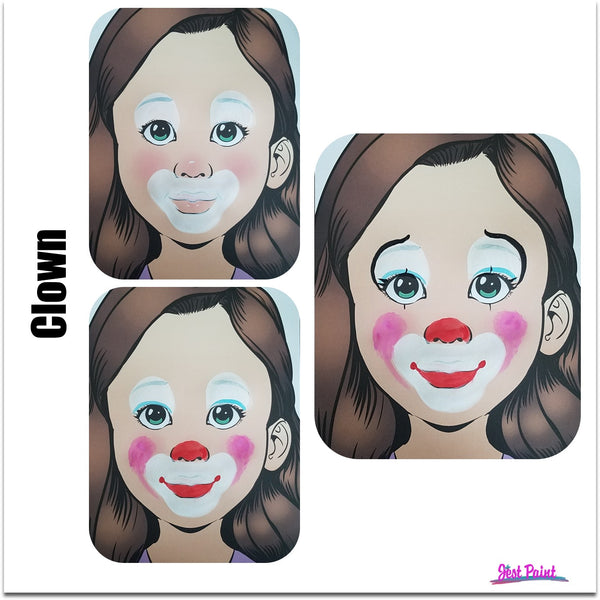 Clown face paint face paint demo tutorial  jest paint